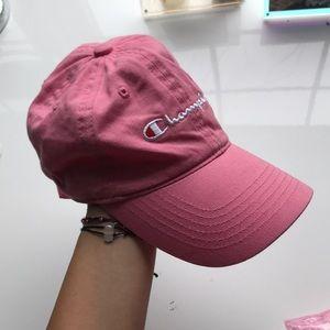 Bubblegum pink champion baseball hat
